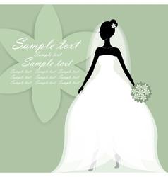 Beautiful young bride vector image vector image