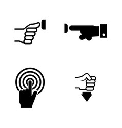buttons and hand simple related icons vector image vector image