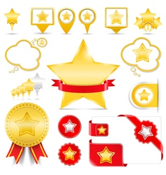 Design Elements with Stars vector image vector image