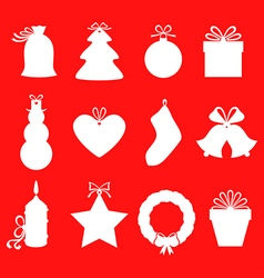 gift label red vector image vector image
