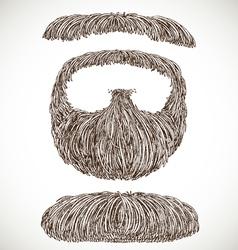 Lush retro mustache and beard vector image