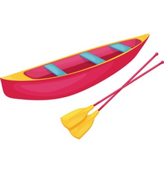 Red and yellow canoe vector image vector image