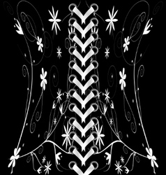 black-white lacing vector image