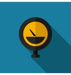 color flat manometer icon vector image