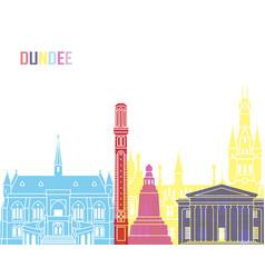 dundee skyline pop vector image vector image