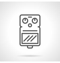 Music equipment black line icon vector image vector image