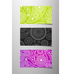 Set of flower cards vector image vector image
