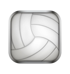 Square icon for volleyball app or games vector image