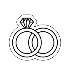 wedding ring isolated icon vector image vector image
