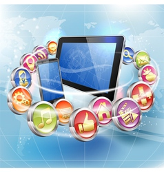 Applications for Mobile Platforms vector image vector image