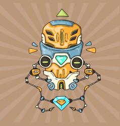 cartoon robot head vector image