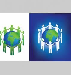 eco globe ring vector image vector image