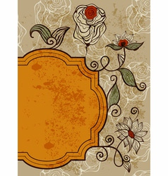 greeting card with funky bizarre flowers vector image