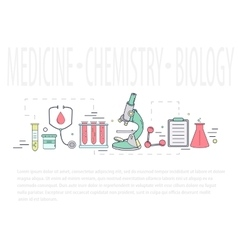 Medical science chemistry hand-drawn design vector image