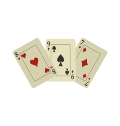 Playing cards flat vector image vector image