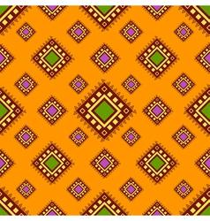 Tribal orange seamless pattern vector image vector image