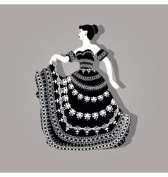 Vintage elegant woman vector image