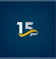 15 years anniversary celebration elegant white vector