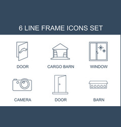 6 frame icons vector image
