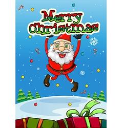 a christmas card vector image