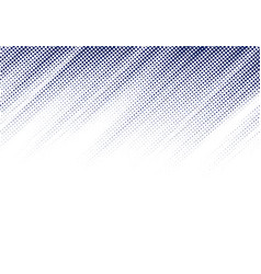 abstract blue diagonal halftone texture on white vector image