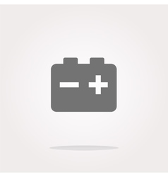 battery round web glossy icon button vector image
