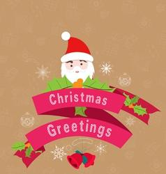 Beautiful vintage christmas vintage greetings vector