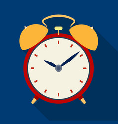 bedside clock icon in flate style isolated on vector image