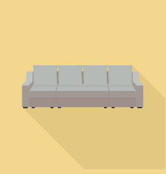 big pillow sofa icon flat style vector image