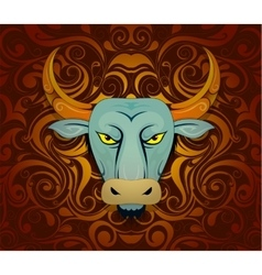 Bull as symbol for year 2021 vector image