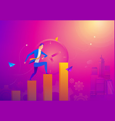 business concept as a businessman is running on vector image