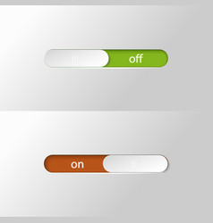 Button slider on off vector