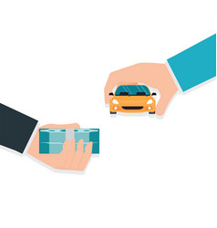 Buying new car conceptual vector