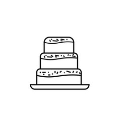 Cake desert party cook icon vector