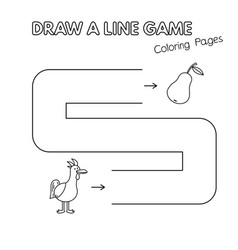 cartoon chicken coloring book game for kids vector image