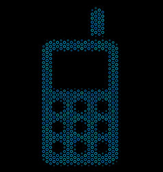 cell phone collage icon of halftone bubbles vector image
