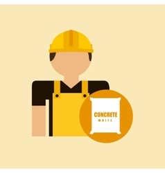Character construction man with concrete vector