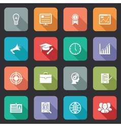 Collection of internet education icons vector