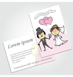 Couple in love background wedding invitation vector image