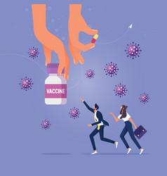 Covid19-19 vaccine treatment or medicine to cure vector