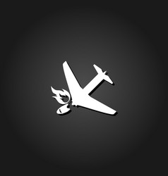 crash plane icon flat vector image