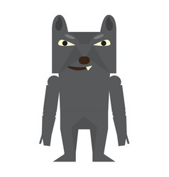 cute halloween werewolf cartoon character vector image