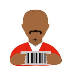 Danger bandit with identification jail vector