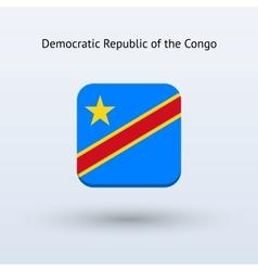Democratic republic congo flag icon vector