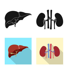 Design of body and human symbol set of vector