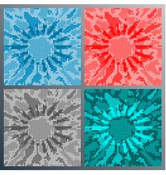 dot mosaic design for flyer poster brochure vector image