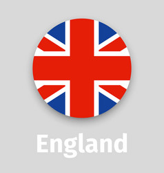 England flag round icon with shadow vector