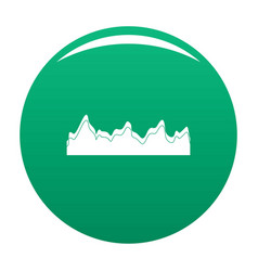 Equalizer song radio icon green vector