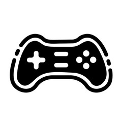 Game controller solid vector
