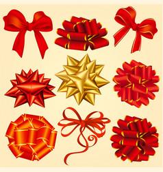 gift box ribbons vector image